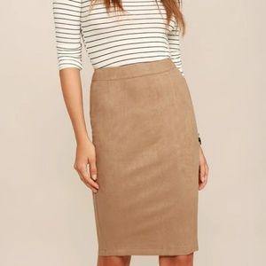 Lulus Superpower Suede Pencil Skirt